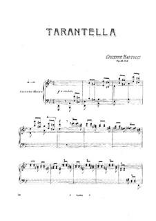 Six Piece for Piano, Op.44: No.6 Tarantella by Giuseppe Martucci