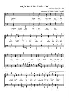 Schottischer Bardenchor: para coral masculino by Friedrich Silcher