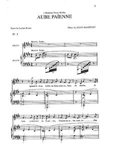Aube païenne: Em E maior by Jules Massenet