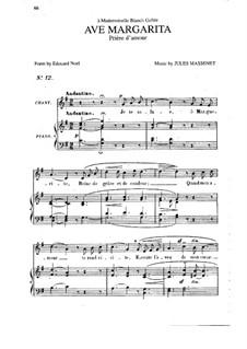 Ave Margarita: em G maior by Jules Massenet