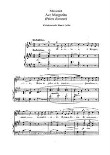 Ave Margarita: em A maior by Jules Massenet