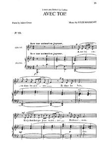 Avec toi: em B flat maior by Jules Massenet