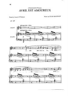 Avril est amoureux: em B flat maior by Jules Massenet
