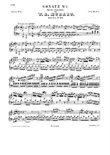 Sonata for Piano No.7 in C Major, K.309: For a single performer by Wolfgang Amadeus Mozart