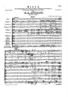 Mass No.16 in C Major (Missa solemnis), K.337: Partitura completa by Wolfgang Amadeus Mozart