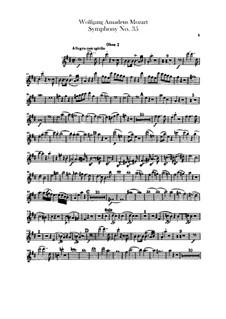 Symphony No.35 in D Major 'Haffner', K.385: parte de oboes by Wolfgang Amadeus Mozart