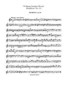 Symphony No.35 in D Major 'Haffner', K.385: parte trompetas by Wolfgang Amadeus Mozart