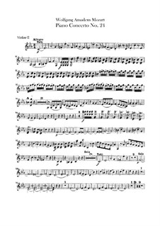 Concerto for Piano and Orchestra No.24 in C Minor, K.491: violino parte II by Wolfgang Amadeus Mozart