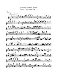 Concerto for Piano and Orchestra No.25 in C Major, K.503: parte flauta by Wolfgang Amadeus Mozart
