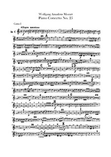 Concerto for Piano and Orchestra No.25 in C Major, K.503: parte trompa by Wolfgang Amadeus Mozart