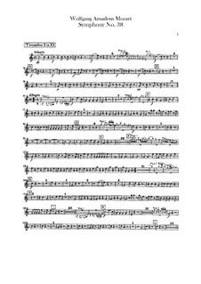 Symphony No.38 in D Major 'Prague', K.504: parte trompetas by Wolfgang Amadeus Mozart