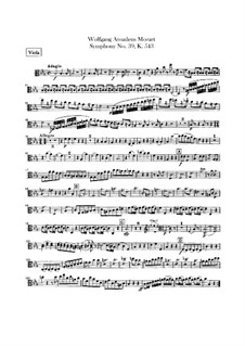 Symphony No.39 in E Flat Major, K.543: parte viola by Wolfgang Amadeus Mozart