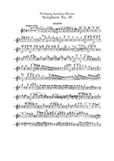 Complete Movements: parte flauta by Wolfgang Amadeus Mozart