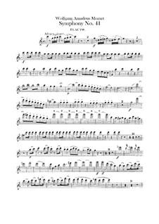 Symphony No.41 in C Major 'Jupiter', K.551: parte flauta by Wolfgang Amadeus Mozart