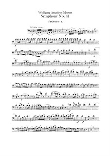 Symphony No.41 in C Major 'Jupiter', K.551: parte fagotes by Wolfgang Amadeus Mozart