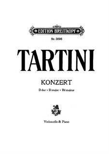 Concerto for Viola da gamba and Orchestra: partitura by Giuseppe Tartini