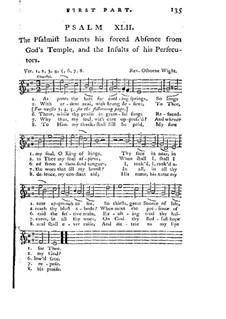 Improved Psalmody in Three Parts, No.42-75 : High voice part by Georg Friedrich Händel, John Stafford Smith, Philip Hayes, Samuel Webbe, John Wall Callcott, William de Chair Tattersall