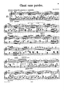 Souvenir de Hapsal, TH 125 Op.2: No.3 Song without Words, for harmonium by Pyotr Tchaikovsky