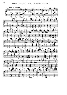 Act II, No.15 Mazurka and Scene: partitura para piano by Pyotr Tchaikovsky