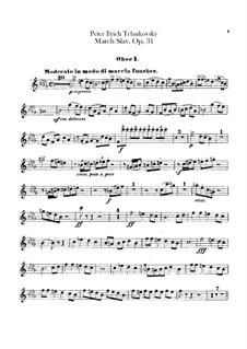 Slavonic March, TH 45 Op.31: parte de oboes by Pyotr Tchaikovsky