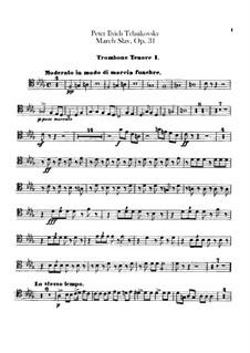 Slavonic March, TH 45 Op.31: parte de trombones e tubas by Pyotr Tchaikovsky