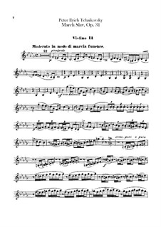 Slavonic March, TH 45 Op.31: violinos parte II by Pyotr Tchaikovsky