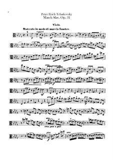 Slavonic March, TH 45 Op.31: parte violas by Pyotr Tchaikovsky