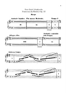 Francesca da Rimini, TH 46 Op.32: parte harpa by Pyotr Tchaikovsky