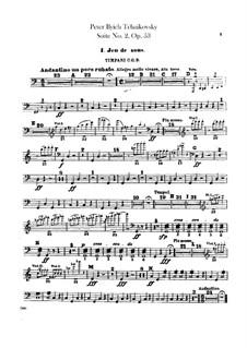 Suite No.2 in C Major, TH 32 Op.53: Parte percussão by Pyotr Tchaikovsky