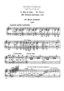 Suite No.2 in C Major, TH 32 Op.53: parte harpa by Pyotr Tchaikovsky