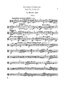 Suite No.2 in C Major, TH 32 Op.53: parte violas by Pyotr Tchaikovsky