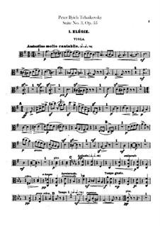 Suite No.3 in G Major, TH 33 Op.55: parte violas by Pyotr Tchaikovsky