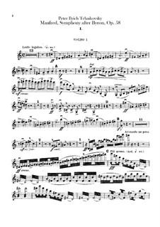 Manfred Symphony, TH 28 Op.58: violinos parte I by Pyotr Tchaikovsky