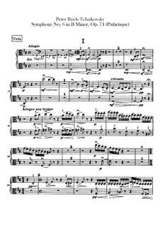 Complete Movements: parte violas by Pyotr Tchaikovsky