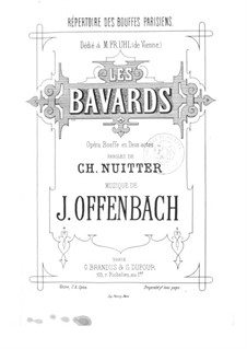 Les bavards (The Chatterbox): Act I No.1-2, for voices and piano by Jacques Offenbach