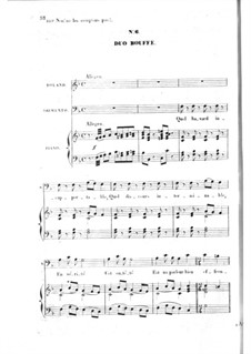 Les bavards (The Chatterbox): Act I No.6, for voices and piano by Jacques Offenbach