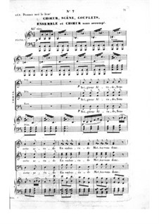 Les bavards (The Chatterbox): Act I No.7, for voices and piano by Jacques Offenbach