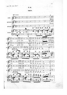 Les bavards (The Chatterbox): Act II No.11-13, for voices and piano by Jacques Offenbach