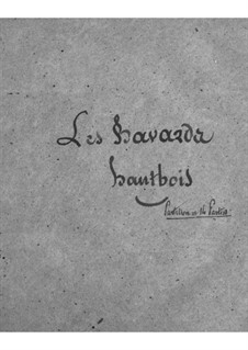 Les bavards (The Chatterbox): parte Oboe by Jacques Offenbach