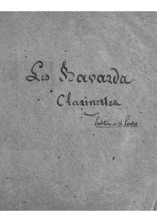 Les bavards (The Chatterbox): parte clarinetes by Jacques Offenbach