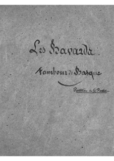 Les bavards (The Chatterbox): Snare drum part by Jacques Offenbach