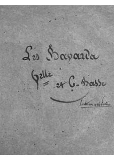 Les bavards (The Chatterbox): parte violoncelos e contrabaixos by Jacques Offenbach