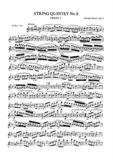 String Quintet No.8 in D Minor, Op.24: Partes by Georges Onslow