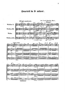 String Quartet in D Minor: partitura completa by F.A. Gore Ouseley