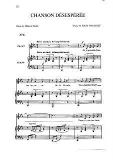 Chanson désespérée: em c menor by Jules Massenet
