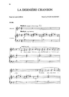 La dernière chanson: em B flat maior by Jules Massenet