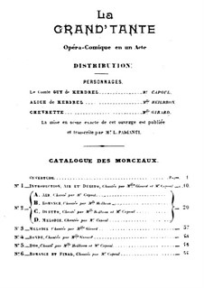 La grand'tante: La grand'tante by Jules Massenet
