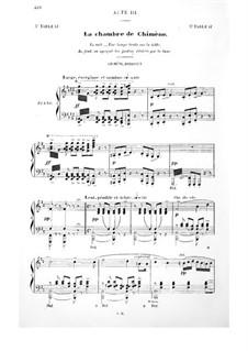 Le Cid: Acto III. Arranjo para vozes e piano by Jules Massenet