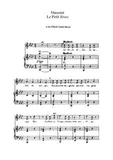 Le petit Jésus: Em F menor by Jules Massenet