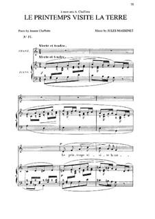 Le printemps visite la terre: em C maior by Jules Massenet